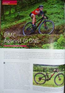 Fragment recenzji roweru BMC Agonist 01 ONE